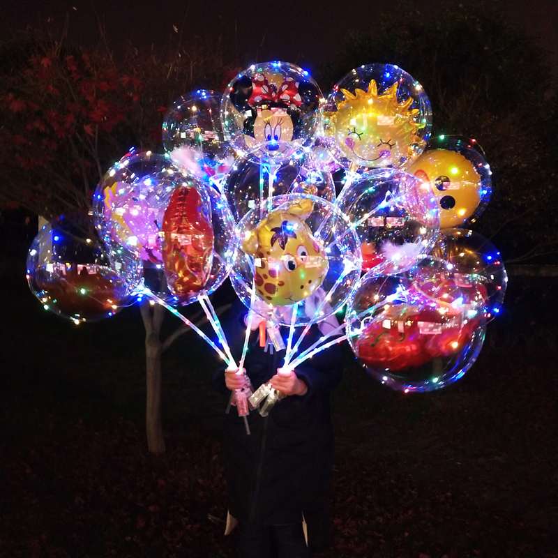 Wholesale-50PCS-No-Wrinkle-Clear-Bobo-Balloon-With-3M-Led ...
